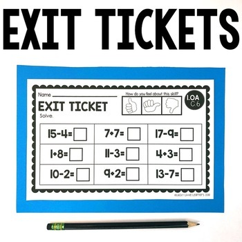 1st Grade Math Exit Tickets Bundle