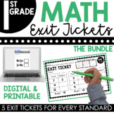 1st Grade Math Exit Tickets Bundle