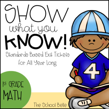 1st Grade Math Exit Tickets (CCSS aligned, self-assessment)