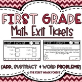 1st Grade Math Exit Tickets (Exit Slips): {Add, Subtract &