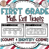 1st Grade Math Exit Tickets (Exit Slips): {Count & Identif