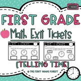1st Grade Math Exit Tickets (Exit Slips): {Telling Time!}