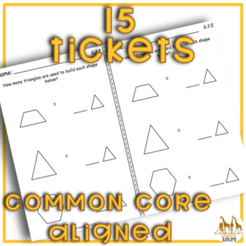 1st Grade Math Exit Tickets for Every Geometry Standard with Answer Key No Prep