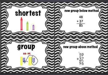 1st Grade Math Expressions Common Core Volume 2 Vocabulary Cards
