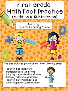 1st Grade Math Fact Practice (Addition & Subtraction) - Differentiated