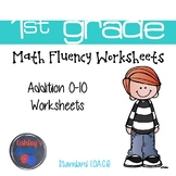 1st Grade Math Fluency Addition 0-10 Worksheets (1.OA.C.6)
