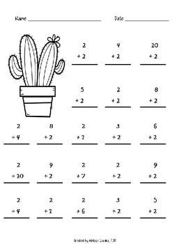 1st Grade Math Fluency Addition/Subtraction 0-10 Worksheets BUNDLE (1.OA.C.6)