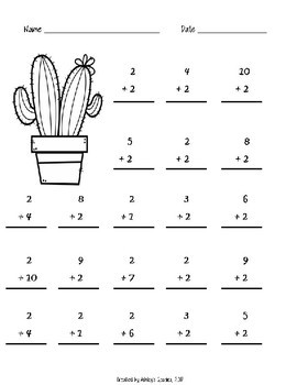 1st Grade Math Fluency Addition/Subtraction 0-10 ...