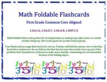 1st Grade Math Foldable Flashcards