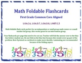 1st Grade Math Foldable Flashcards