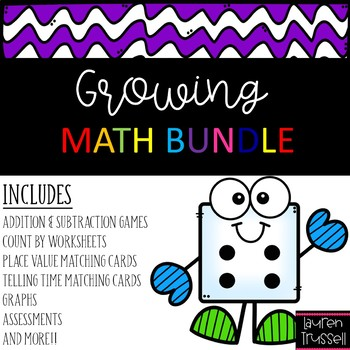 1st Grade Math GROWING BUNDLE