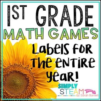 1st Grade Math Game Labels Classroom Organization Tpt