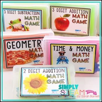 1st Grade Math Game Labels   Classroom Organization