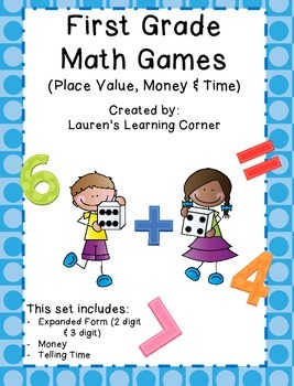 1st Grade Math Games - Common Core Aligned