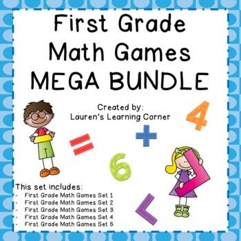 1st Grade Math Games - BUNDLE