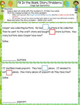 1st Grade Math Games - Set 4 - Common Core Aligned