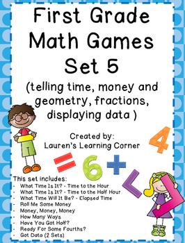 1st Grade Math Games - Set 5 - Common Core Aligned