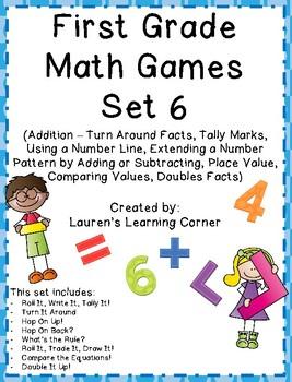 1st Grade Math Games - Set 6 - Common Core Aligned