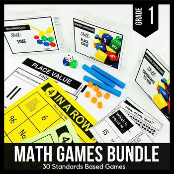 1st Grade Math Centers   1st Grade Math Games BUNDLE - Ready Set Play