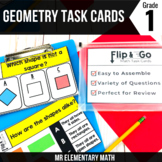 Geometry - 1st Grade Math Flip and Go Cards