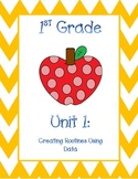1st Grade Math Georgia Frameworks Unit COVERS