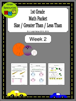 Big & Small; Greater & Less Than Packet - Week 2 - Sports Theme