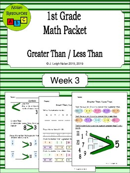Greater & Less Than Packet - Week 3