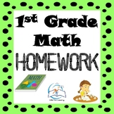1st Grade Math Homework | 1st Grade Morning Work | Entire Year!