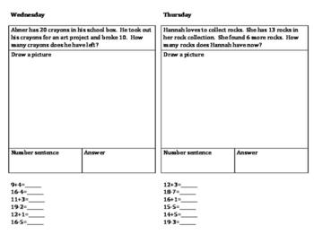 1st Grade Math Homework