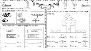 Math Homework for 1st Grade - 2nd Quarter