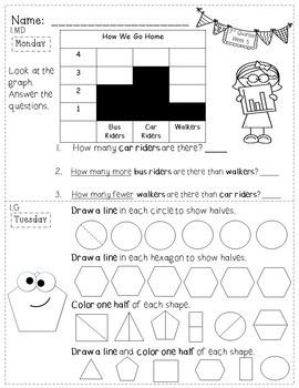 1st Grade Math Homework - 3rd Quarter - Vertical Format