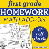 1st Grade Math Homework Add-On Pack