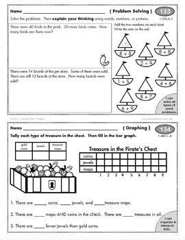 1st Grade Math Homework Add-On Pack