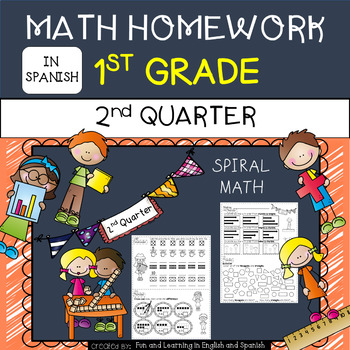 1st Grade Math Homework IN SPANISH - 2nd Quarter