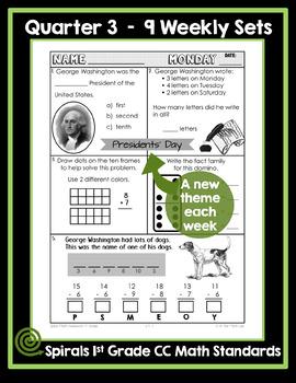 1st Grade Math Homework - Quarter 3