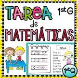 1st Grade Tarea de Matemáticas en Español - 1st quarter