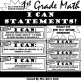 "1st Grade Math ""I Can Statements"" (Common Core Aligned) BL"