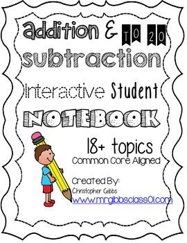1st Grade Math Interactive Student Notebook / Math Journal Add/Subtract to 20