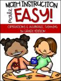 1st Grade Math Instruction- Activities for addition, subtr
