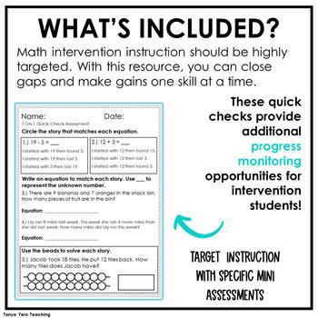 1st Grade Math Intervention Pack Algebraic Thinking Guided Math RTI Resources