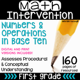 1st Grade Math Intervention Pack Place Value Guided Math R