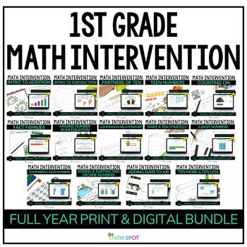 1st Grade Math Intervention & RtI Bundle