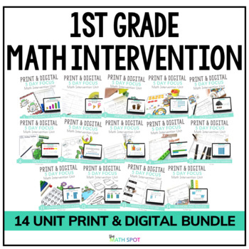 1st Grade Math Intervention & RtI Lesson Bundle
