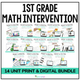 1st Grade Math Intervention & RtI Lesson Bundle