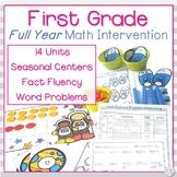 First Grade Math Intervention | Full Year Bundle