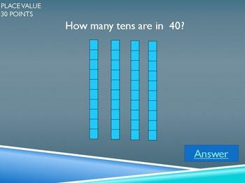 1st Grade Math Jeopardy #1