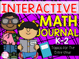 K-2 Grade Math Journal {25 Different Math Topics for the A