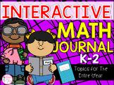 K-2 Grade Math Journal {25 Different Math Topics for the E