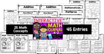 K-2 Interactive Math Journal & Foldable Bundle