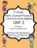 1st Grade Math Journal Prompts - Unit 2 - Investigations